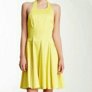 Jessica Simpson Yellow Halter Dress